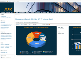 Management-Dashboard, Umsetzung mit Sharepoint